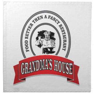 food grandmas house good napkin