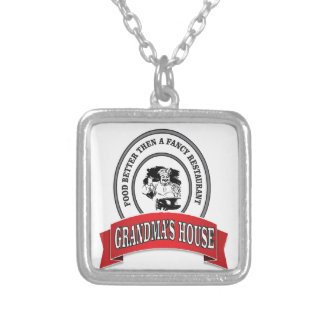 food grandmas house good silver plated necklace