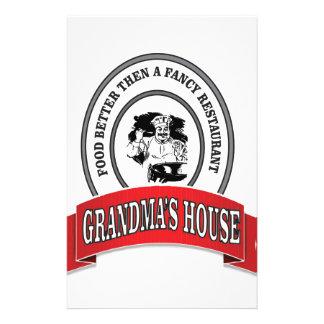 food grandmas house good stationery