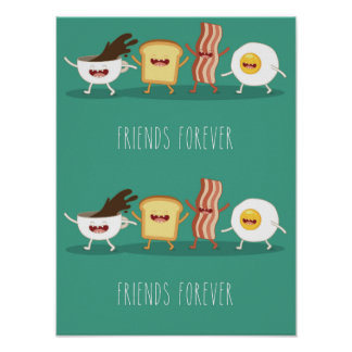 Food hipster,pattern,friends forever,egg,coffee, poster