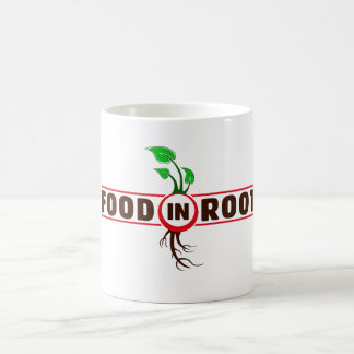 Food in Root Beverage Container Basic White Mug