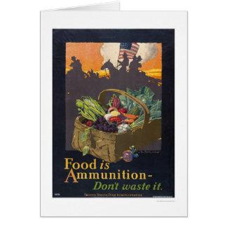 Food is Ammunition Greeting Card