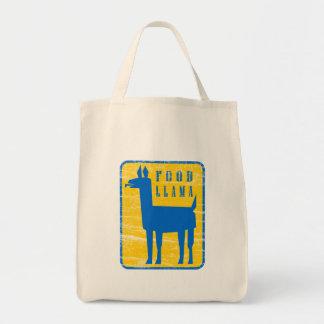 Food Llama Canvas Bags