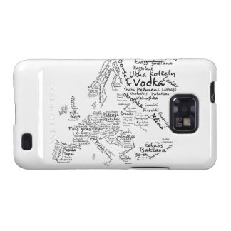 Food Map of Europe Samsung Galaxy S2 Case