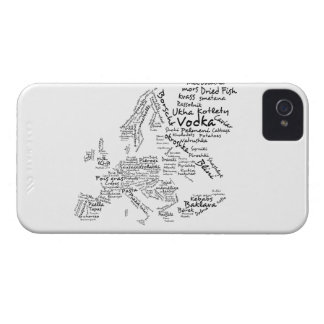 Food Map of Europe iPhone 4 Case-Mate Cases