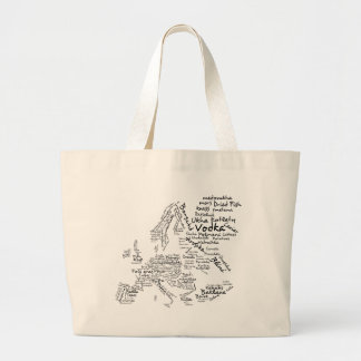 Food Map of Europe Jumbo Tote Bag