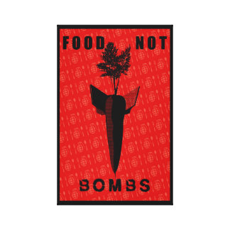 FOOD NOT BOMBS CANVAS PRINT