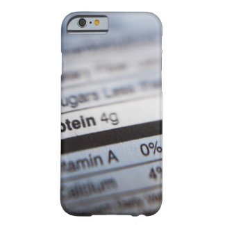 Food nutrition label barely there iPhone 6 case