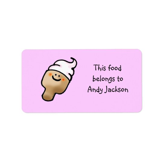 Food owner labels ( ice cream )