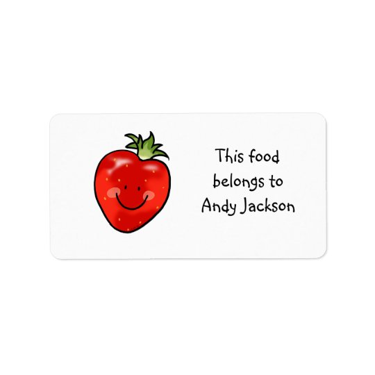 Food owner labels ( red strawberry )