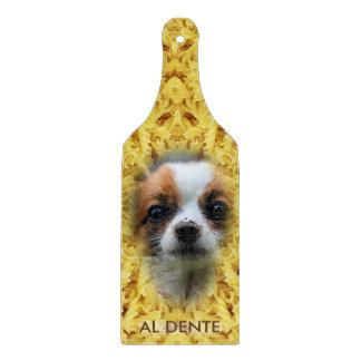 Food Pattern Mosaic - Yellow Pasta, Dog Item Cutting Board