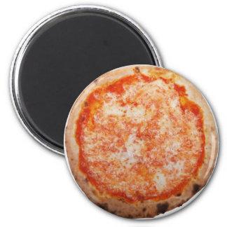 food-pizzamargherita_p3060448 6 cm round magnet