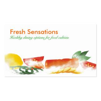 Food preparation sliced vegetables business car... business card templates