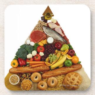 Food Pyramid Drink Coasters
