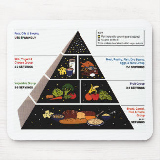 Food Pyramid Mouse Pad