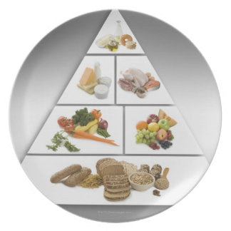 Food pyramid party plate