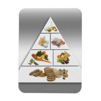 Food pyramid rectangular photo magnet