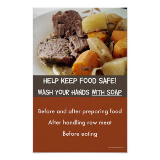 Food safety - Hand-washing poster