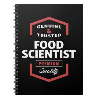 Food Scientist Logo Gift Ideas Notebook