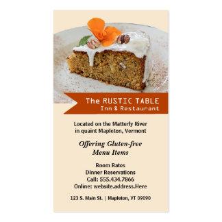 Food Service Restaurant Vertical Business Card