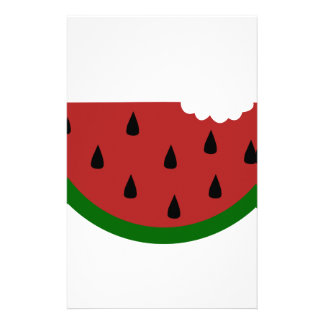 food slice fruit bitten watermelon stationery
