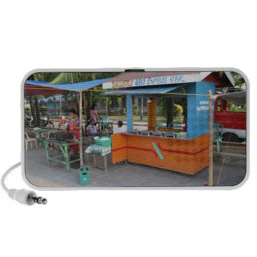 Food stall mp3 speakers