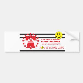 Food stamp car bumper sticker