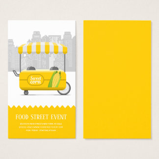 Food street sweet corn business card
