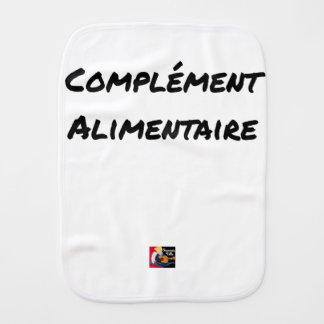 Food supplement - Word games Burp Cloth