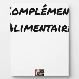 Food supplement - Word games Plaque