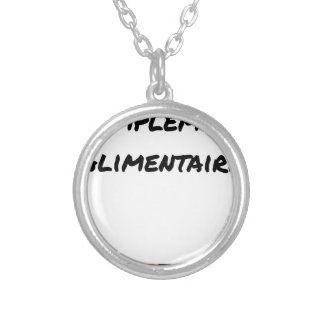 Food supplement - Word games Silver Plated Necklace
