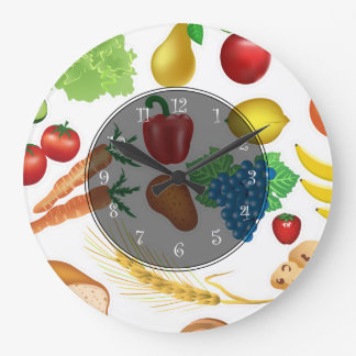 Food Theme Kitchen Wall Clocks