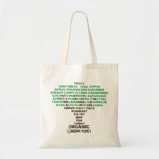 Food Tree Organic Planet Reusable Canvas Bags