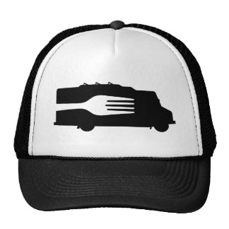 Food Truck: Side/Fork (Black/White) Cap