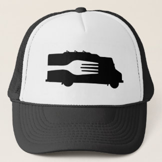Food Truck: Side/Fork (Black/White) Trucker Hat