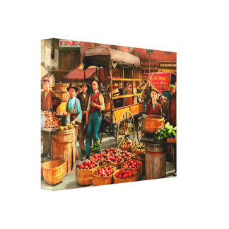 Food - Vegetables - Indianapolis Market 1908 Canvas Print