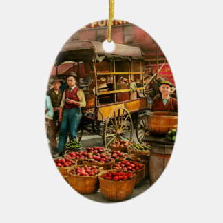 Food - Vegetables - Indianapolis Market 1908 Ceramic Ornament