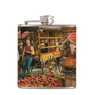 Food - Vegetables - Indianapolis Market 1908 Hip Flask