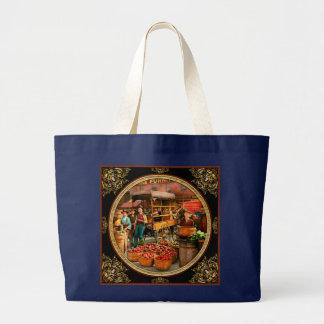 Food - Vegetables - Indianapolis Market 1908 Large Tote Bag