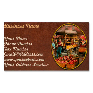 Food - Vegetables - Indianapolis Market 1908 Magnetic Business Card