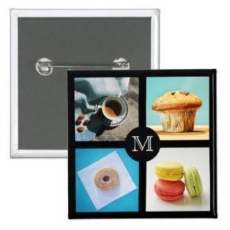 Foodie custom monogram button 2