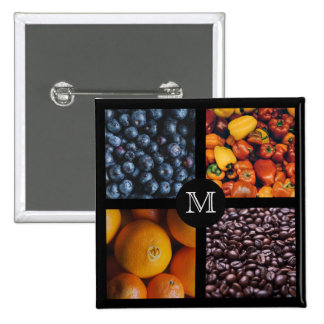 Foodie custom monogram button 7