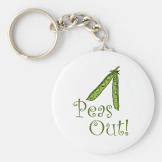 Foodie gifts Peas Out Keychains