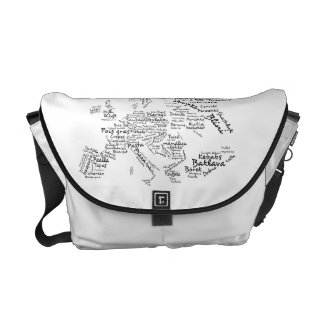 Foodie International Cuisines Europe Food Map Messenger Bag