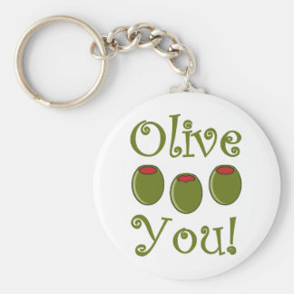 Foodie Olive You Key Ring