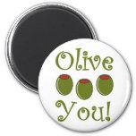 Foodie Olive You Refrigerator Magnet