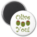 Foodie Olive You Refrigerator Magnets