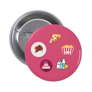 Foodie world ! 6 cm round badge