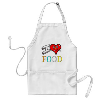 Foodies I Love Food Design with Heart Standard Apron