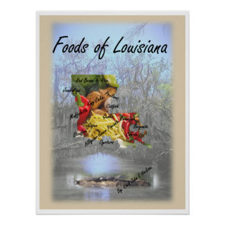 Foods of Louisiana Poster
